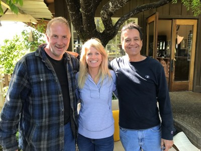 Handley winemaker Randy Schock and us